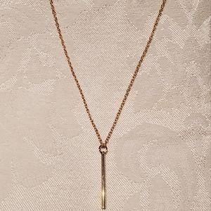 Gold Y necklace